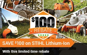 SAVE $20 ON STIHL LITHIUM-ION!